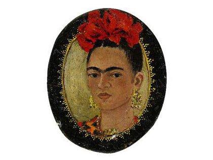 Autorretrato mínimo de Frida que conservó Josep Bartolí hasta su muerte.