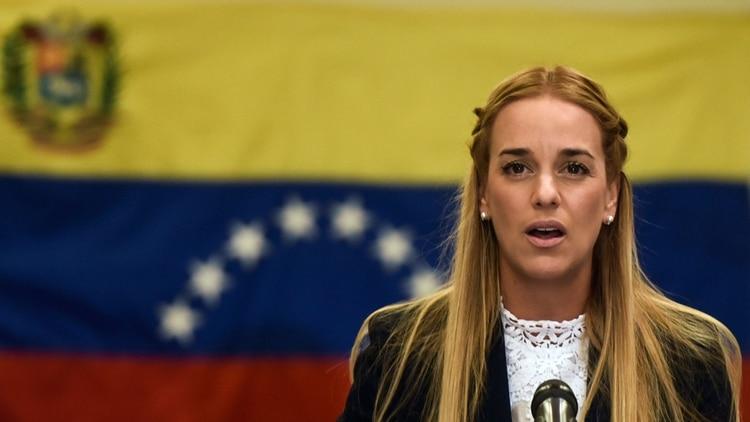 Lilian Tintori, la esposa de Leopoldo López (AFP)