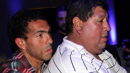 Carlos Tevez avec Don Segundo