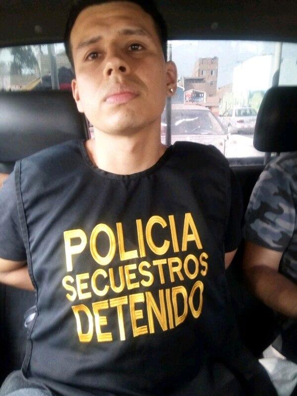El momento del arresto de Delgado Herrera