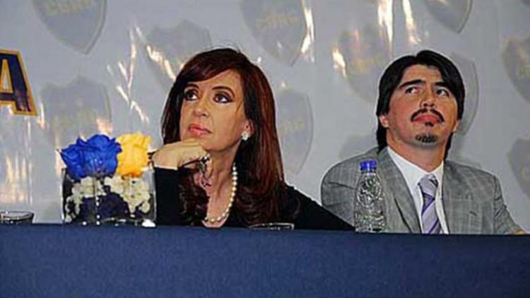 Martín Báez junto a Cristina Kirchner