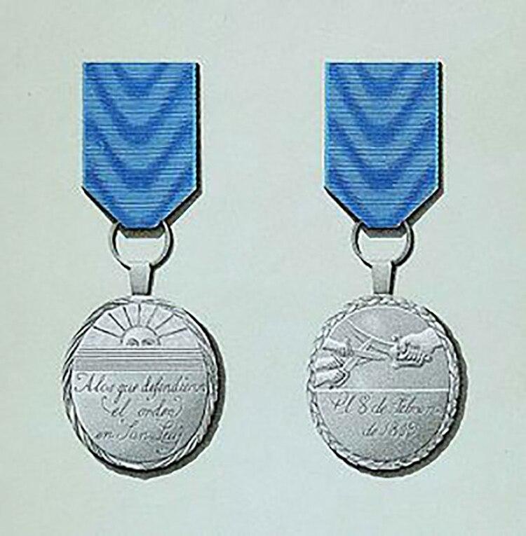 Condecoraciones para los héroes de los sucesos del 8 de febrero de 1819