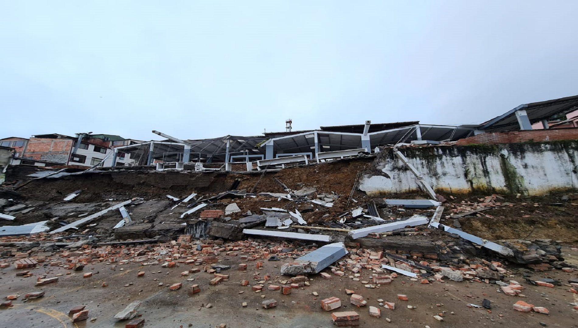 Plaza de mercado de Ubalá colapsó por estructura mal diseñada