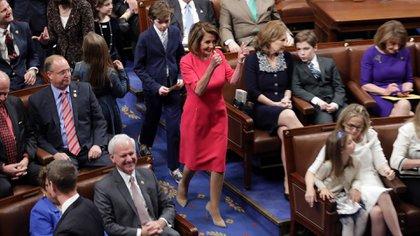 Nancy Pelosi, líder demócrata en la Cámara de Representantes (AFP)