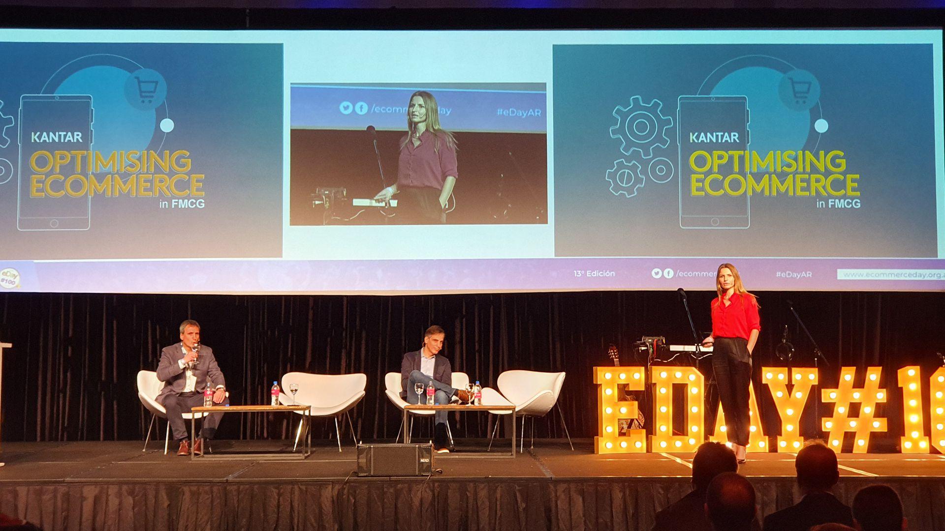 Julieta Dejean, a cargo del departamento Gestión del Cliente de la consultora Kantar, durante la presentación de tendencias globales en el comercio online.