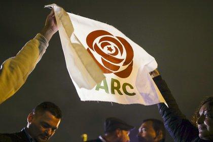 El partido Fuerza Alternativa Revolucionaria del Común (FARC), surgido de la desmovilización de la guerrilla.  EFE/Juan PáezArchivo