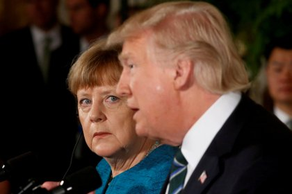 Angela Merkel y Donald Trump (Reuters)