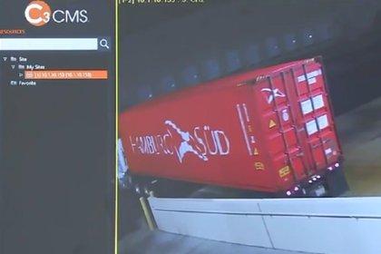 El video del robo (captura de imagen, cadena WSVN)