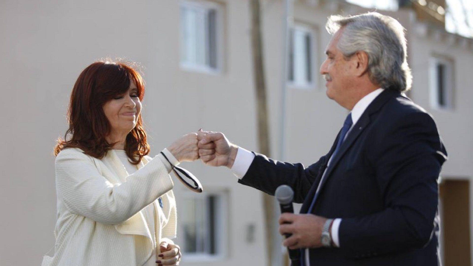 Cristina Kirchner y Alberto Fernández en Avellaneda