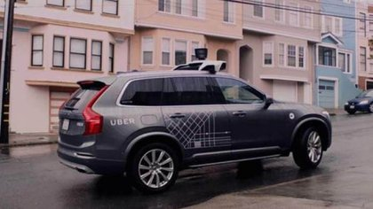 El coche autónomo de Uber realiza una prueba de conducción en San Francisco