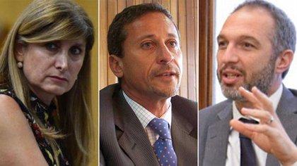 Lázzaro, Bejas y Goncalves Figueiredo, los tres integrantes de la terna elevada por el Consejo de la Magistratura al Ejecutivo.