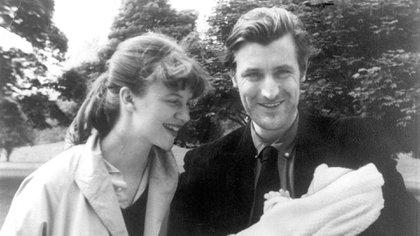Con su primera hija, Frida