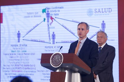 Hugo López Gatell Ramírez, subsecretario de Prevención y Promoción de la Salud en conferencia mañanera. FOTO: ANDREA MURCIA/CUARTOSCURO.COM (ARCHIVO)