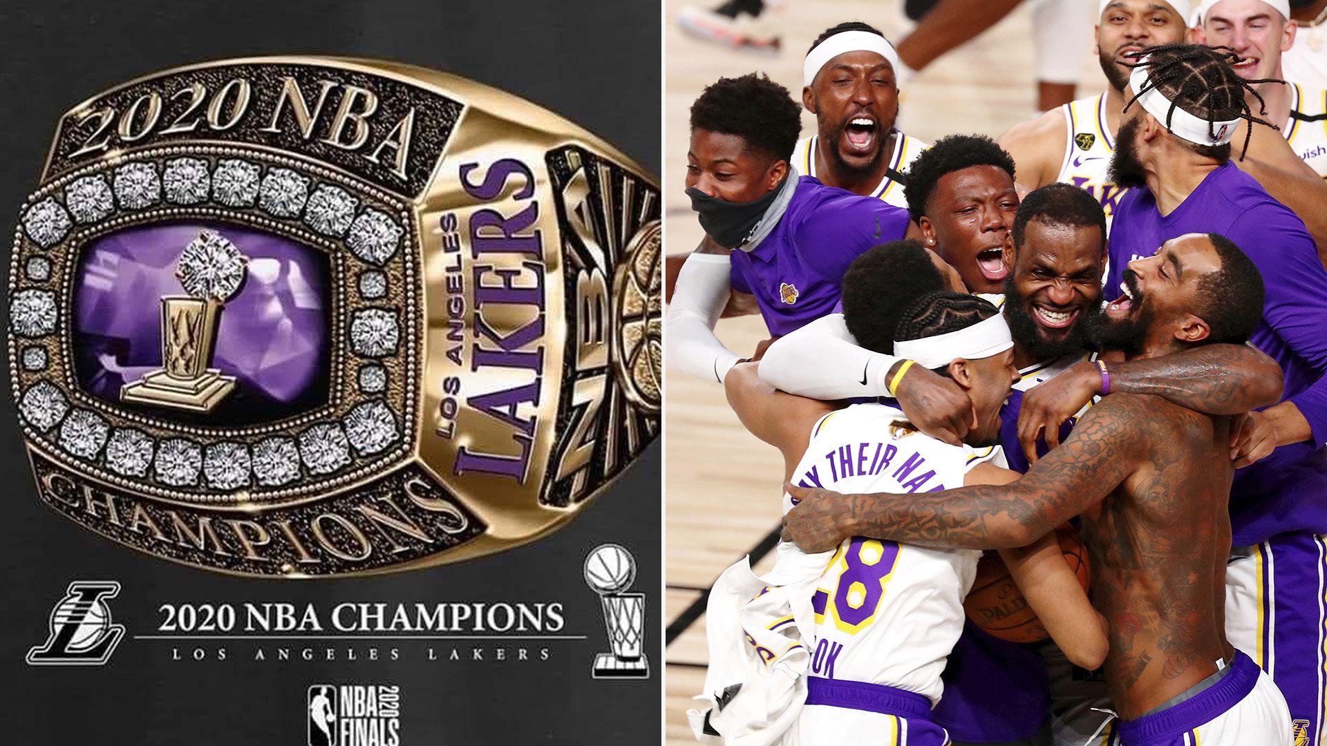 anillo y celebración de Los Lakers