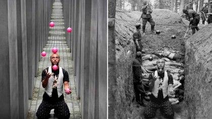 Uno de los montajes que integran la muestra Yolocaust del artista germano-israelí Shapira