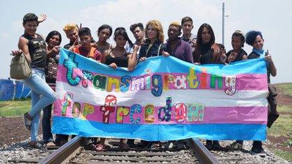 Una de las organizaciones que colabora con el colectivo trans en la caravana migrante