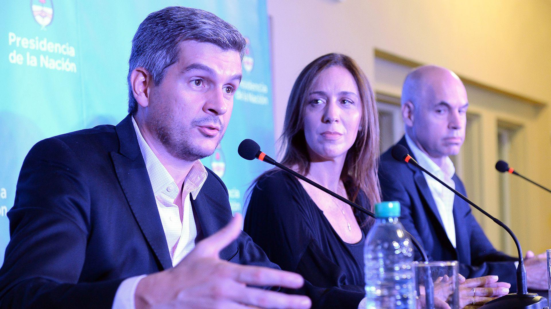 Marcos Peña y María Eugenia Vidal (Foto: Presidencia)
