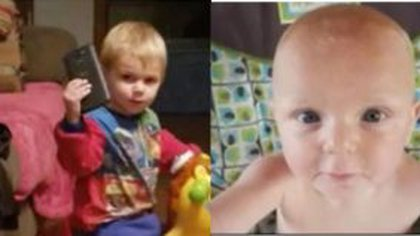 Two of the five murdered children.