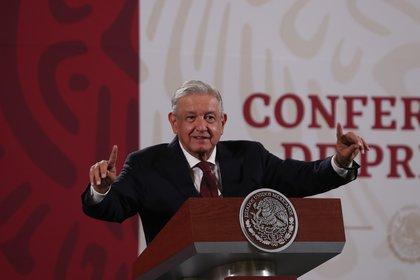 El presidente de México, Andrés Manuel López Obrador, anunció el retorno del 100% de su aguinaldo (Foto: EFE/ Mario Guzmán)