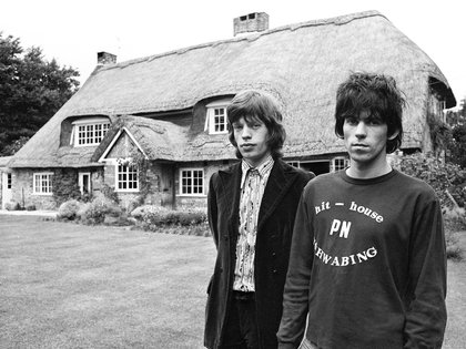 Mick Jagger y Keith Richards en las afueras de Redlands (Grosby Group)