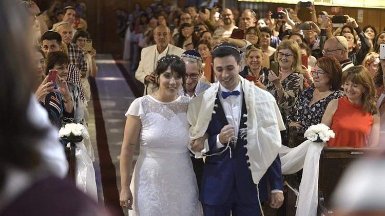 El tío de Carla vino especialmente desde Israel para participar de la boda