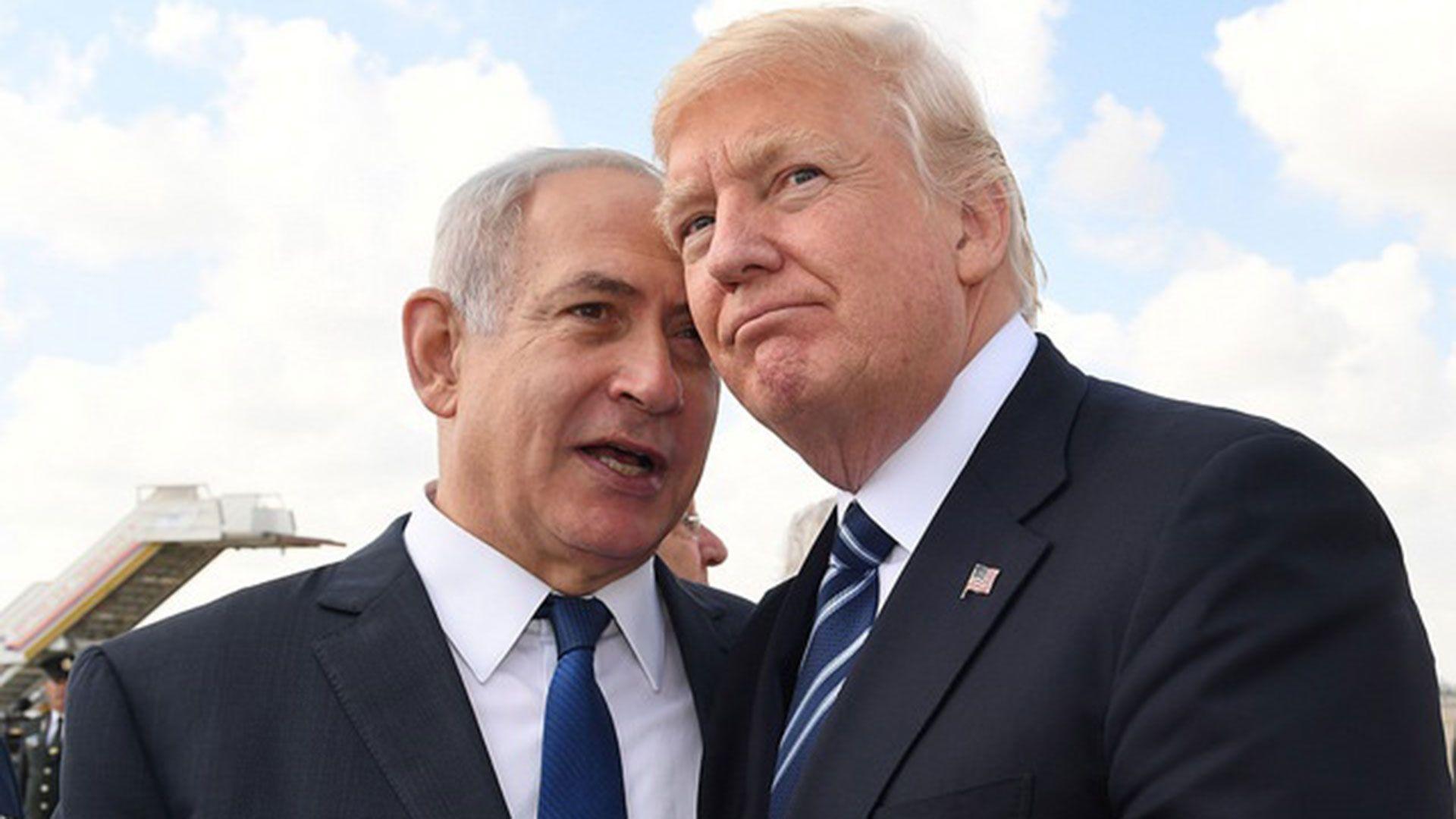 Benjamín Netanyahu y Donald Trump