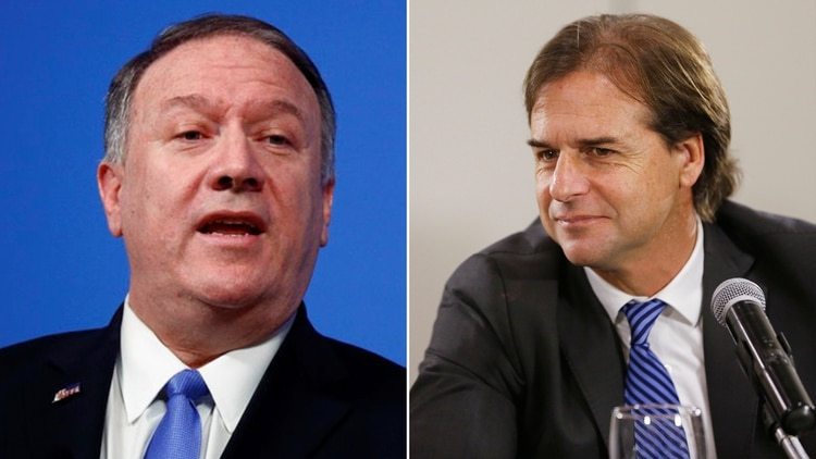 Mike Pompeo y Luis Lacalle Pou