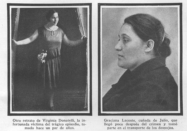 Virginia Donatelli y una de las cómplices de Julio Bonini