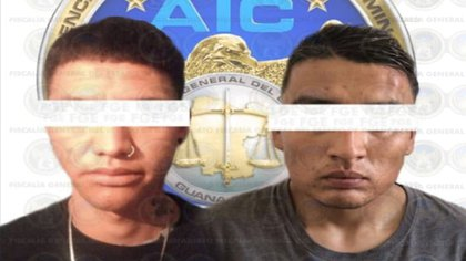 "Martín ""N"" and José ""N"" were apprehended on November 15 (Photo: Attorney General of the State of Guanajuato)"
