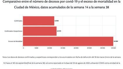 (Foto: Autores de Nexos con datos de la Secretaría de Salud, INEGI y análisis del Registro Civil de la Ciudad de México)