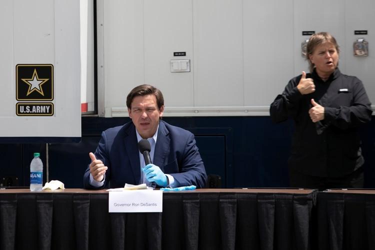 Ron DeSantis, gobernador de Florida. REUTERS/Marco Bello