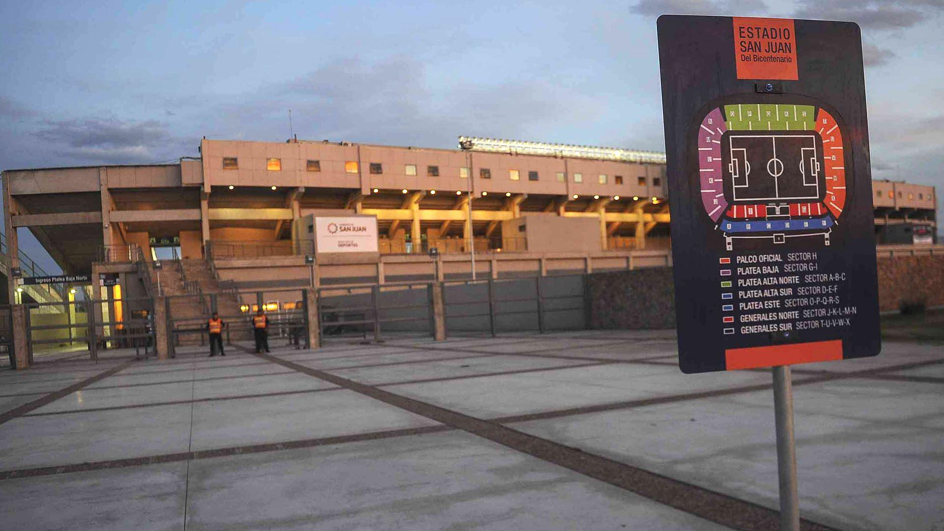 El estadio San Juan del Bicentenario será la sede de las dos semifinales (Victor Carreira/telam/cf)