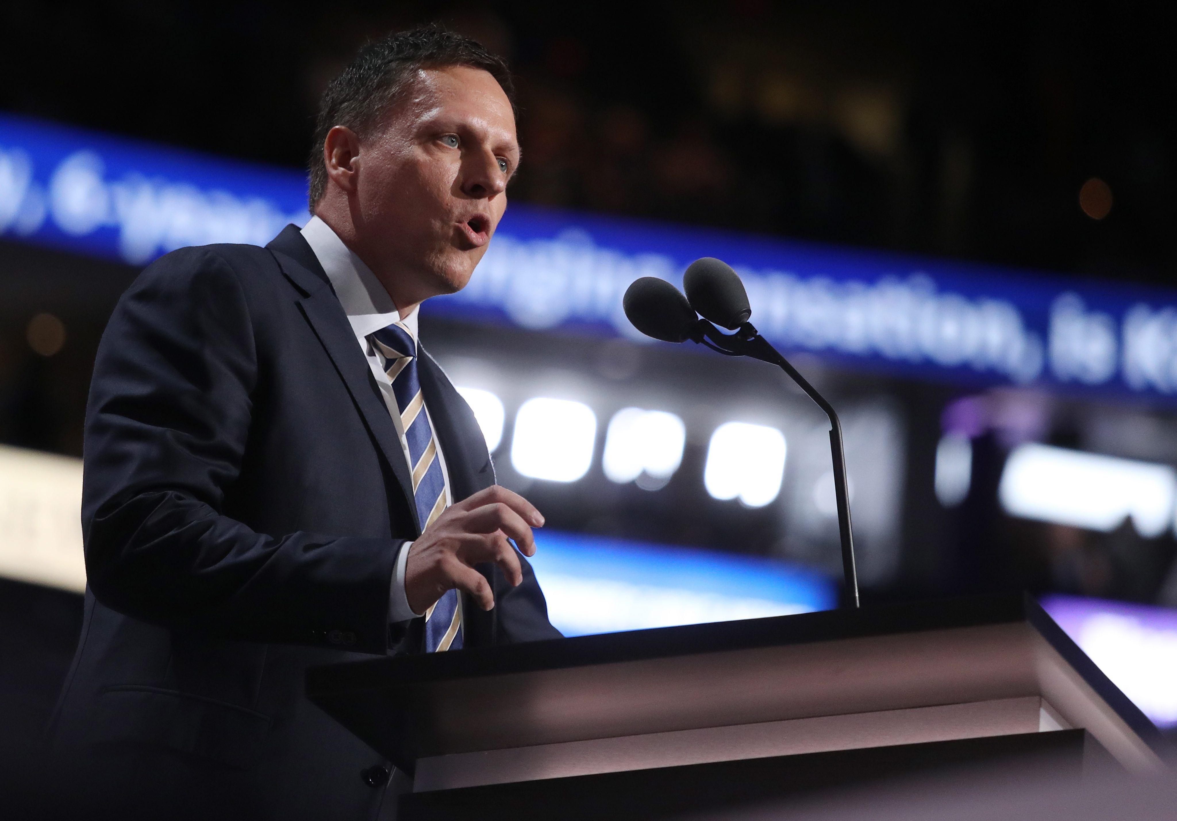 El multimillonario inversor Peter Thiel, otro de los que está en esta carrera
