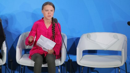 Greta Thunberg en la ONU (Foto: Reuters)