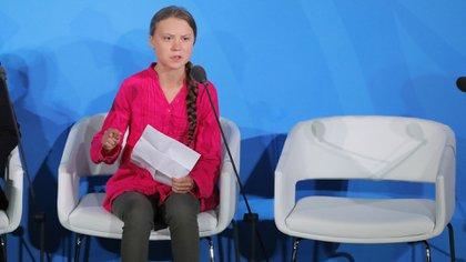 La adolescente sueca Greta Thunberg (Reuters/Lucas Jackson)