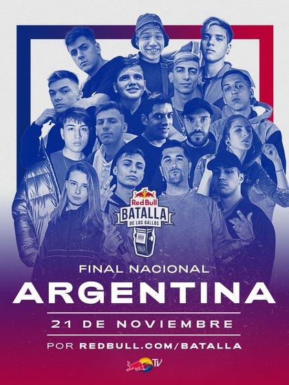 La Final Nacional de Red Bull Batalla de los Galles 2020 se realizará el 21 de noviembre desde las 17 hs.
