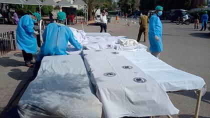 El Gobierno de Karachi puso en alerta a los principales hospitales de la ciudad (AFP)
