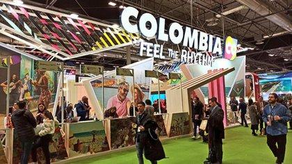 El stand de Colombia en la feria (Foto: FITUR)