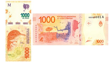 El 30 de noviembre de 2017 se emite el billete de $1.000 equivalente a USD 57,54, aunque rápidamente se fue depreciando por la inflación y la incertidumbre cambiaria y ahora apenas alcanza para adquirir USD 7 al mejor precio del mercado libre