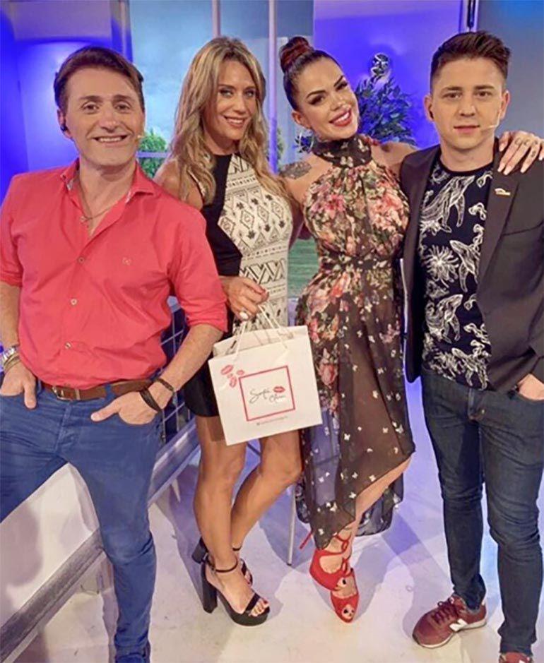 Rocío Marengo junto a Daniel Gómez Rinaldi, Rocío Marengo, y Pampito
