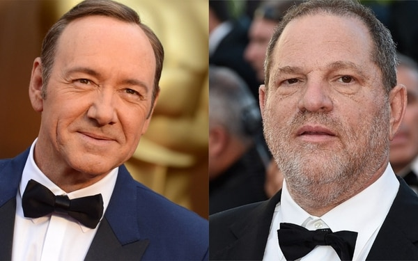 Harvey Weinstein y Kevin Spacey, ambos acusados de acoso sexual. Fotos: Archivo Atlántida Televisa.