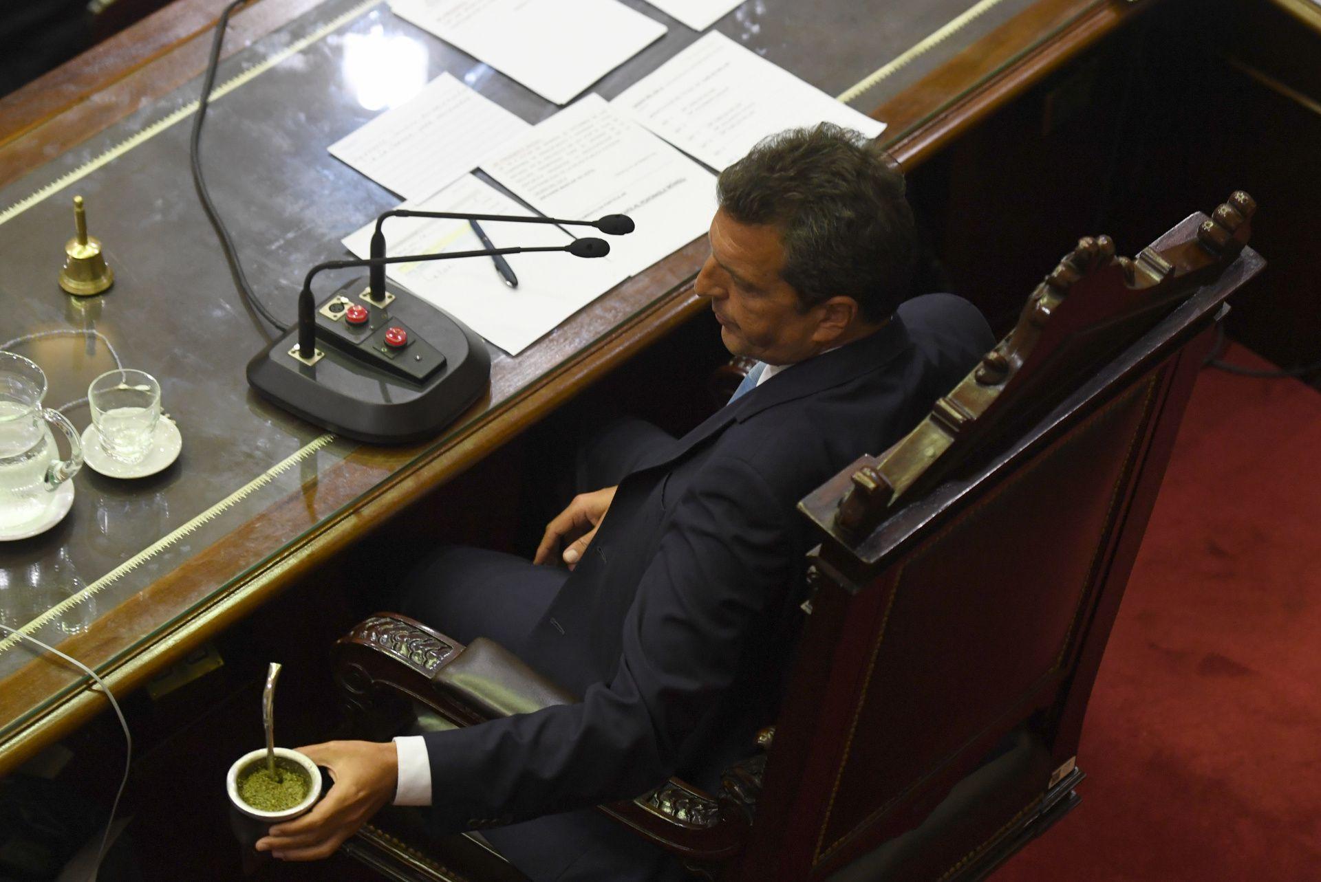 El presidente de la Cámara de Diputados estuvo aislado en su casa durante el fin de semana (Maximiliano Luna)