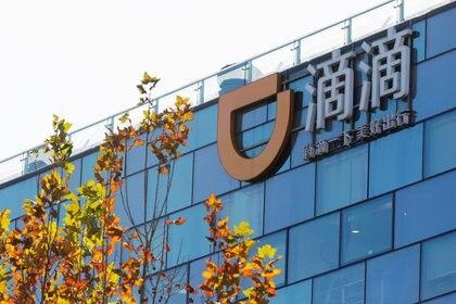 Imagen de archivo de un logo de Didi en las oficinas principales de Didi Chuxing en Pekín, China. 20 de noviembre, 2020. REUTERS/Florence Lo/Archivo