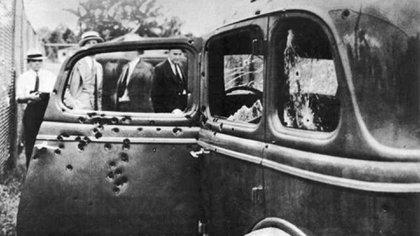 Las marcas de los disparos que mataron a los amantes