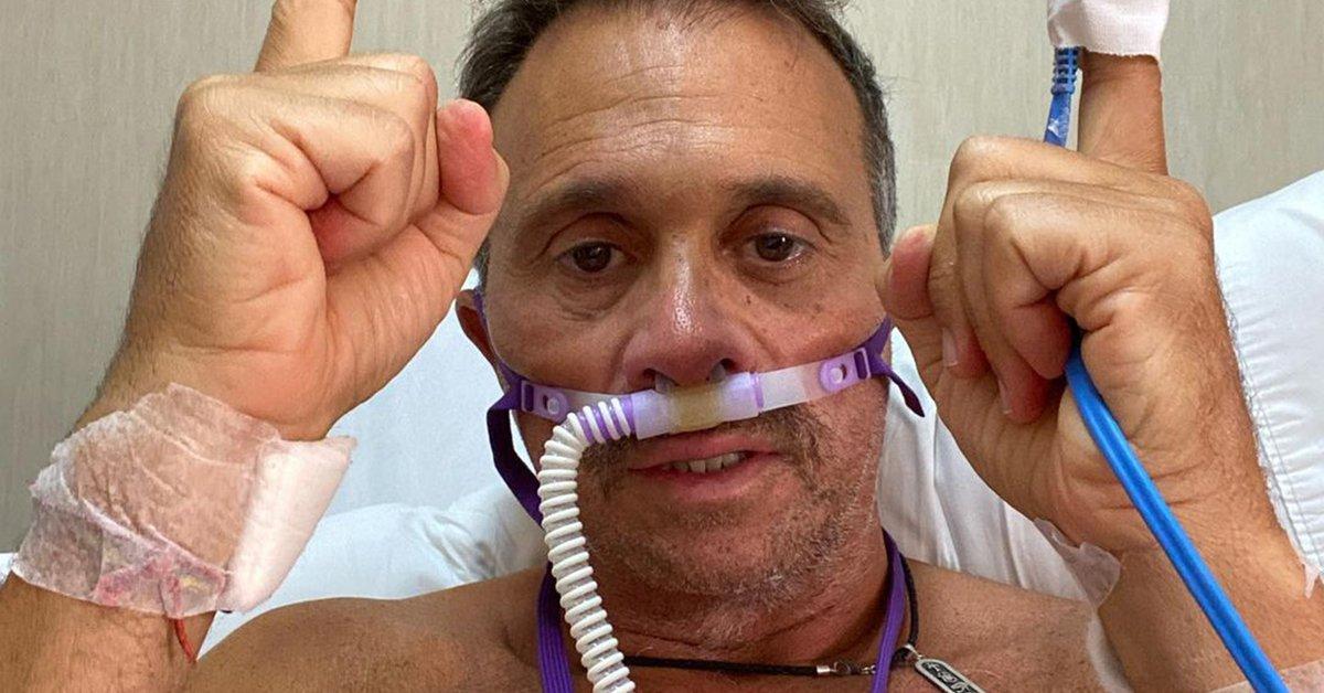 Sergio Lapegüe's Selfie in Intensive care: