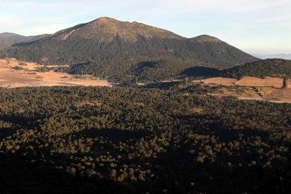 Volcán Ajusco desde la cima del volcán El Pelado, de 3620 msnm, ubicado al sur en el Campo Volcánico Sierra Chichinautzin, cerca de la comunidad de Parres en Tlalpan (Foto: Margarito Pérez/ Cuartoscuro)