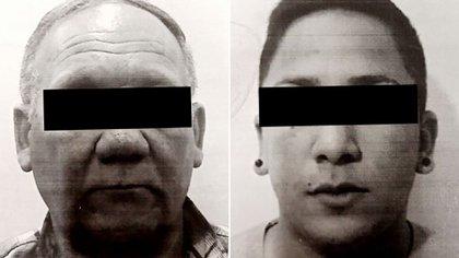 Enrique Laborde y Braian Missart, en foto policial.