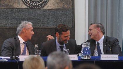 Sergio Torrres, Juan Félix Marteau y Miguel Ángel Pichetto (Patricio Murphy)