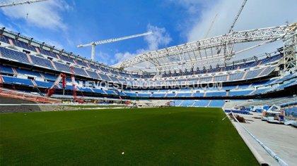 El nuevo Santiago Bernabéu estaría listo para octubre de 2022