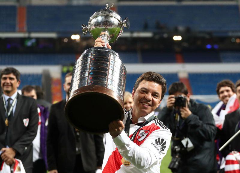 La Copa Libertadores en Madrid ante Boca, uno de los mayores logros en la era Gallardo (REUTERS/Sergio Perez)